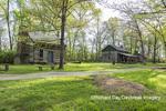 63895-15811 63895-158.02 Cabin at Log Cabin Village in spring Kinmundy IL