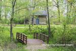 63895-15812 63895-158.02 Cabin at Log Cabin Village in spring Kinmundy IL