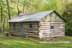 63895-15813 63895-158.02 Cabin at Log Cabin Village in spring Kinmundy IL
