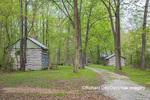 63895-15816 Cabins at Log Cabin Village in spring Kinmundy IL