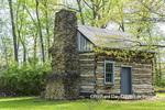 63895-16003 Cabin at Log Cabin Village in spring Kinmundy IL