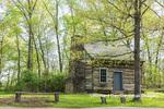 63895-16004 Cabin at Log Cabin Village in spring Kinmundy IL