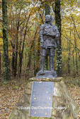 63895-16116 Shawnee chief Tecumseh statue Saline County State Fish & Wildlife Area  Saline Co. IL