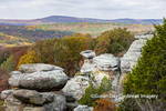 63895-16120 Camel Rock in fall color Garden of the Gods Recreation Area Shawnee National Forest IL