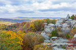 63895-16305 Camel Rock in fall color Garden of the Gods Recreation Area Shawnee National Forest IL