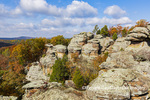 63895-16311 Camel Rock in fall color Garden of the Gods Recreation Area Shawnee National Forest IL