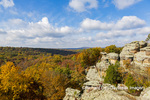 63895-16313 Camel Rock in fall color Garden of the Gods Recreation Area Shawnee National Forest IL