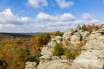 63895-16314 Camel Rock in fall color Garden of the Gods Recreation Area Shawnee National Forest IL