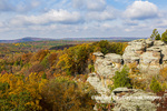 63895-16317 Camel Rock in fall color Garden of the Gods Recreation Area Shawnee National Forest IL