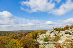 63895-16319 Camel Rock in fall color Garden of the Gods Recreation Area Shawnee National Forest IL
