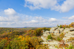 63895-16401 Camel Rock in fall color Garden of the Gods Recreation Area Shawnee National Forest IL