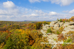 63895-16402 Camel Rock in fall color Garden of the Gods Recreation Area Shawnee National Forest IL