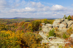 63895-16403 Camel Rock in fall color Garden of the Gods Recreation Area Shawnee National Forest IL
