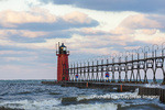 64795-02503 South Haven Lighthouse early morning South Haven,  MI