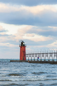 64795-02505 South Haven Lighthouse early morning South Haven,  MI