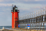 64795-02606 South Haven Lighthouse early morning South Haven,  MI