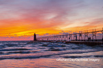 64795-02618 South Haven Lighthouse at sunset South Haven,  MI