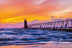 64795-02701 South Haven Lighthouse at sunset South Haven,  MI