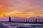 64795-02705 South Haven Lighthouse at sunset South Haven,  MI