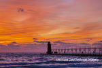 64795-02707 South Haven Lighthouse at sunset South Haven,  MI