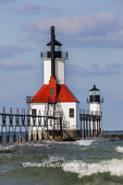 64795-02813 St. Joseph North Pier Lighthouses St. Joseph, MI