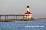 64795-02902 Michigan City Lighthouse & Pier Michigan City, MI