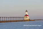 64795-02905 Michigan City Lighthouse & Pier Michigan City, MI