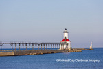 64795-02909 Michigan City Lighthouse & Pier Michigan City, MI