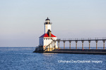 64795-02912 Michigan City Lighthouse & Pier Michigan City, MI