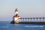64795-02915 Michigan City Lighthouse & Pier Michigan City, MI