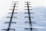 63877-01317 Aerial view of boat docks after snowfall in winter Stephen A. Forbes St. Park Marion Co. IL