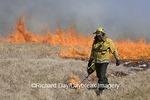 63858-01603 IDNR employee doing controlled prairie burn at  Prairie Ridge State Natural Area, Marion Co. IL
