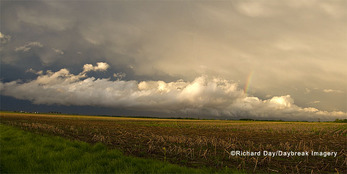 63891-024.06 Panoramic of clouds after storm over field, Marion Co. IL