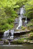66745-04512 Tom Branch Falls at Deep Creek in spring, Great Smoky Mountains National Park, NC
