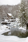 67395-04314 Glade Creek Grist Mill in winter, Babcock State Park, WV