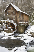 67395-04401 Glade Creek Grist Mill in winter, Babcock State Park, WV