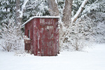 63821-22414 Outhouse garden shed in winter, Marion Co., IL