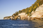 64745-00208 Pictured Rocks National Lakeshore in fall from Lake Superior near Munising MI