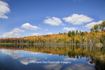 64776-01210 Pete's Lake in fall color Schoolcraft County Upper Peninsula Michigan