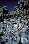 Plastic recycling helps lessen the effect of garbage in landfills.