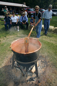 Stirring the kettle at the Annual Apple Butter Festival