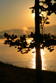 North America; United States of America {America, U.S., United States, US, USA}; Wyoming, WY, Yellowstone National Park {Yellowstone Park}, Yellowstone Lake; sunrise {daybreak, sun up, sunrises}