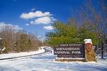 VA, Virginia, Shenandoah National Park, North Entrance, Skyline Drive, seasons; Winter {wintertime}; snow ShenandoahNP_A0710126025932ha February