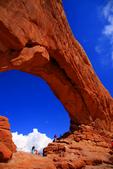 North America; United States of America {America, U.S., United States, US, USA}; Utah; Arches National Park, Windows Section, North Window