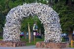 Wyoming, Teton Range, Jackson Hole, Jackson, Elk Antler Arch