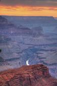 sunset, sundown, Grand Canyon National Park; South Rim, Arizona; Grand Canyon; USA Grand Canyon070707201005890nzD2AnnRobSimpson.tif