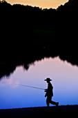 boy fishing; nostalgic, Norman Rockwell;  fishing; fishing pole, fishing rod; Peaks of Otter, Abbott Lake, Blue Ridge Parkway, Virginia, BRPW24C9627.CR2