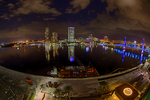 Jacksonville, St. John's River, skyline, night, night time, Blue Bridge, Florida, arial, air photo, FL021318_HDR16zs.jpg