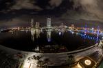 Jacksonville, St. John's River, skyline, night, night time, Blue Bridge, Florida, arial, air photo, FL021319_20_21_22_Natural.jpg