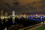 Jacksonville, St. John's River, skyline, night, night time, Blue Bridge, Florida, arial, air photo, Jacksonville1234s.jpg